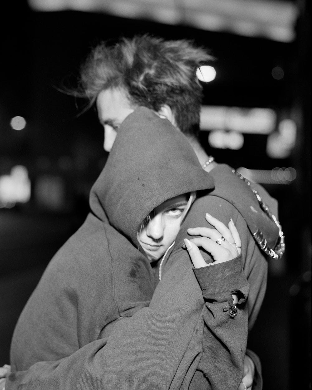 Couple in Hoodies. Minneapolis, Minnesota